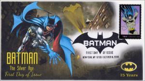 SC 4934, 2014, Batman, Silver Age, Pictorial Postmark, FDC, 75th Anniversary