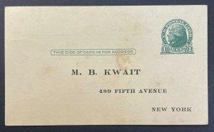 United States Postal Card #UX27 (PC17) c1914-1916 Addressed but unused [PC24]