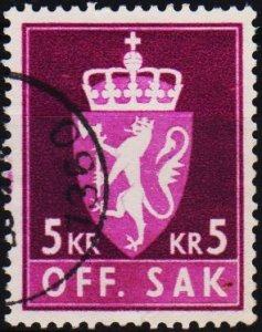 Norway. 1955 5k  S.G.0488 Fine Used
