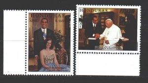 Honduras. 1999. 1422-23. Honduran President, Pope Paul 2. MNH.
