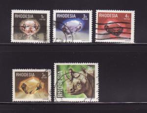 Rhodesia 393-396, 398 U Gem Stones, Animals