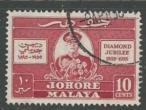 Malya - Johore  || Scott # 156 - Used ©