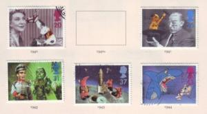 Great Britain Sc 1698-2 1996 BBC Childrens TV stamps used