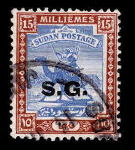 SUDAN Scott o16 Official Used overprint camel mail stamp