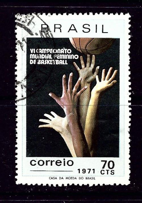 Brazil 1188 Used 1971 Basketball issue