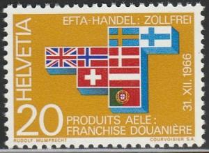 Switzerland, #481 Unused  From 1967