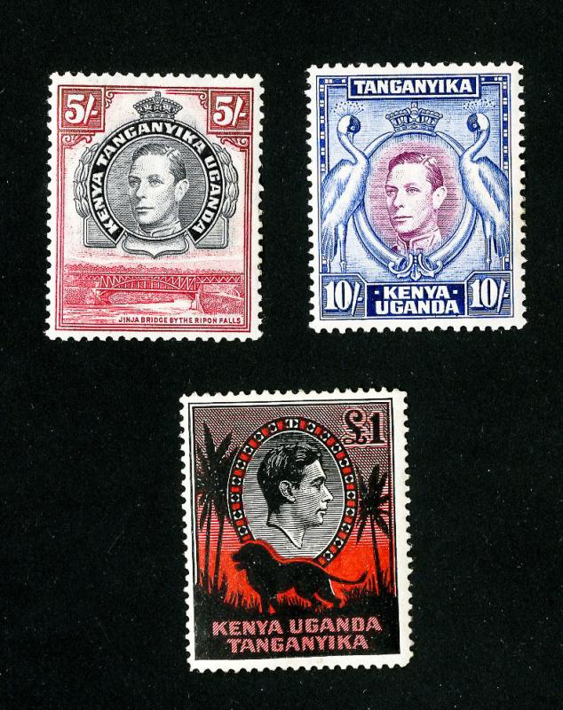 KUT Stamps # 83-5 High Values LH Set of 3 Scott Value $100.00