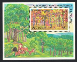 Moldova Fox and Cubs Trees Europa Parks and Gardens MS SG#MS314 MI#Block 18