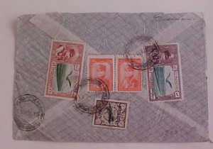 IRAN #C25,C53,C60 COVER 1936 TO GERMANY