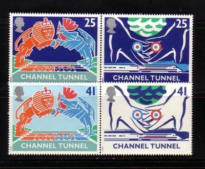 Great Britain Sc 1558-61 1994 Channel Tunnel stamps NH