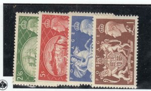 GREAT BRITAIN  # 286-289  VF-MLH  KING GEORGE VI /VARIOUS DESIGNS CAT VALUE $107
