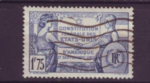 J4285 JLstamps 1937 france used set/1 #332 france/usa