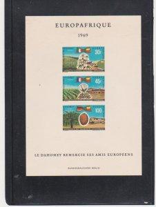 Dahomey Scott # C105a De Lux Proof on Card Europa Africa Catalogue $25.00