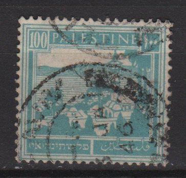 Palestine 1927 - Scott 80 used- 100m, Tiberias & Galilee sea