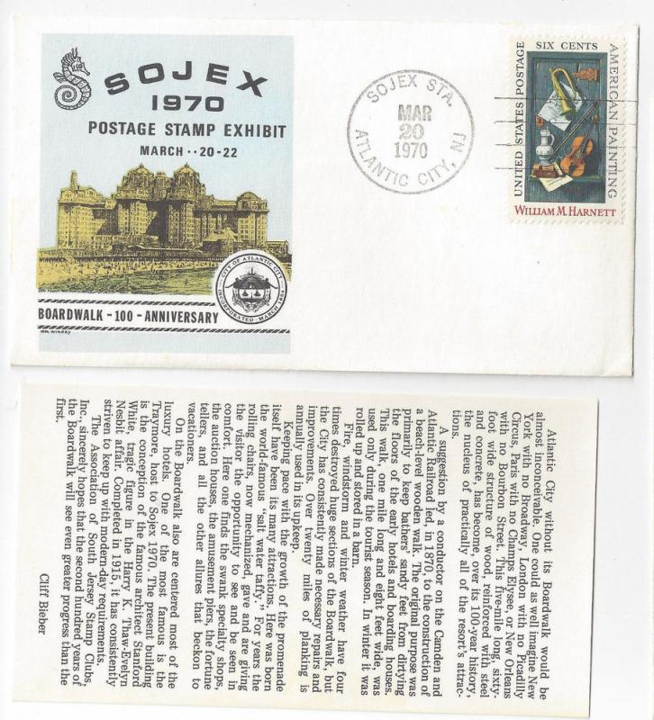 1970 SOJEX Exhibition Cover w Insert Atlantic City NJ