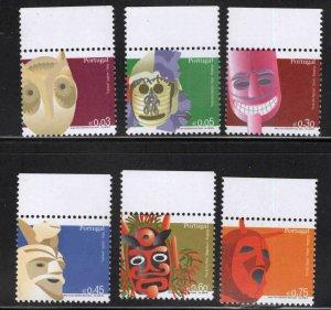 PORTUGAL Scott 2827-2832 MNH** Mask stamp set 2006