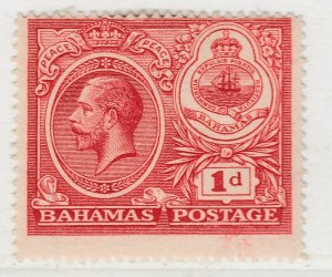 British Colony Bahamas 1920 Wmk Mult Crown CA 1d MH* Stamp A22P15F8690