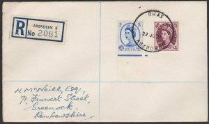 GB SCOTLAND 1959 Registered cover Aberdeen Royal Highland Show skeleton.....G523