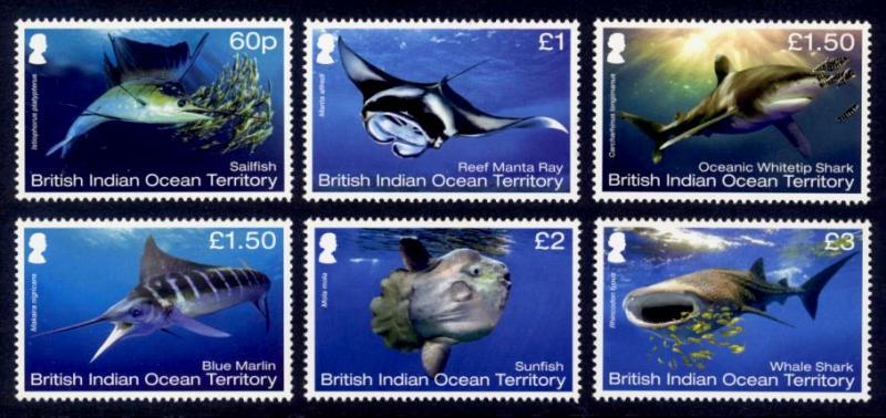 British Indian Ocean Territory Sc# 474-9 MNH Mega Fauna
