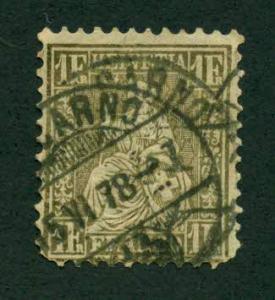 Switzerland 1862 #50 U SCV(2018) = $130.00