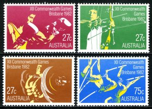 AUSTRALIA Sc#842-845 12th Commonwealth Games, Brisbane (1982) MNH