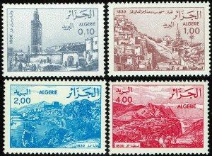 Algeria #731-34  MNH - Views Oran, Mosques, Bejaia, Constantine (1984)
