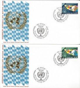United Nations Geneva 79-80  FDC    Geneva Cachet