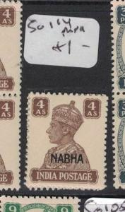 India Nabha SG 114 MNH (2dtv)