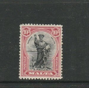 Malta 1930 Postage & Revenue 10/- MM SG 209