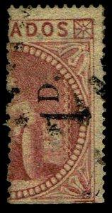 1878 Barbados #57 Slanting Serif with RPS Cert - Used - VF - CV$850.00 (E#4049)
