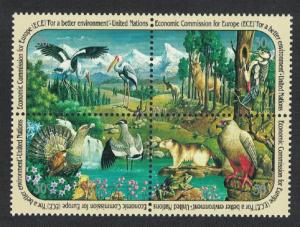 UN New York Birds Animals Block of 4v SG#594-597