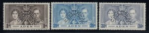 Aden, SG 13s-16s, MLH Perforated Specimen variety