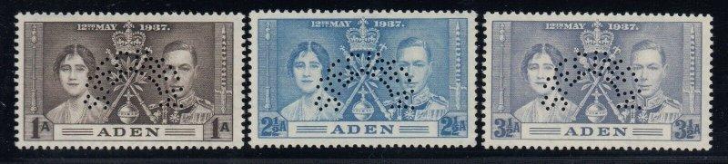 Aden, SG 13s-16s, MLH Perforated Specimen variety