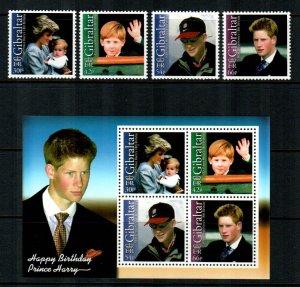 Gibraltar 2002  # Prince Harry  Sheet & set MNH # 903-916a