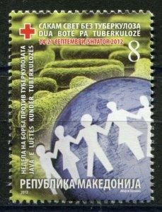 154 - MACEDONIA 2012 - Red Cross - Tuberculosis - MNH Set