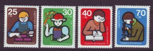 J24335 JLstamps 1974 germany set mnh #b508-11 young builders
