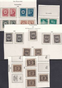 ROMANIA BACK OF BOOK 5 SCANS COLLECTION LOT SOME NEVER HINGED 68 STAMPS