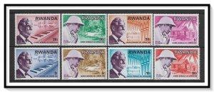 Rwanda #714-721 Albert Schweitzer Set MNH