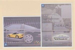 Tuvalu Scott #919-920 Stamps - Mint NH Souvenir Sheet Set