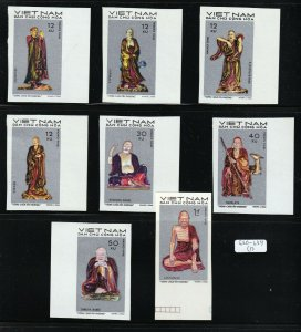 North Viet Nam - 1971 - Sc 630-637 - Statues Tay Phuong Pagoda - Imperf - MNH