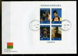 MADAGASCAR 2019  CREED II  SHEET  FIRST DAY COVER