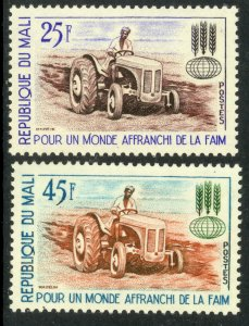 MALI 1963 FAO Freedom From Hunger Set Tractor Sc 43-44 MNH