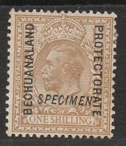 BECHUANALAND 1913 KGV 1/- SPECIMEN WMK SIMPLE CYPHER