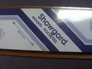 SHOWGARD MOUNTS # 28--215MM LONG x 28MM WIDE---22 STRIPS---BLACK /NEW