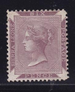 Sierra Leone Scott # 1a VF-OG previously hinged nice color scv $ 225 ! see pic !
