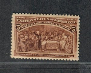 US Sc#234 M/NH/F-VF, Cv. $140