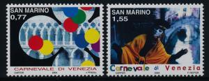San Marino 1595-6 MNH Venice Carnival