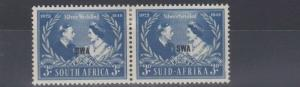 SOUTH WEST AFRICA  1948   SILVER WEDDING PAIR    MH