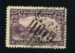 Canada #101  used   1908   PD