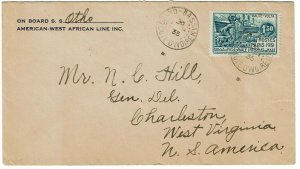 Upper Volta 1935 Grand Bassam cancel on cover to the U.S., Scott 69, $225